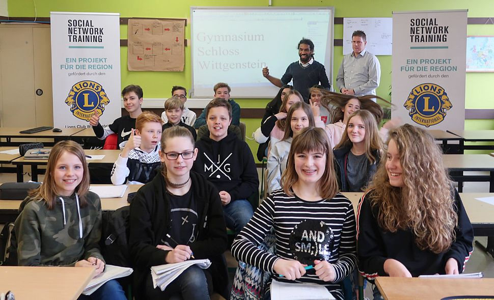 Klasse 7b beim Social-Network-Training